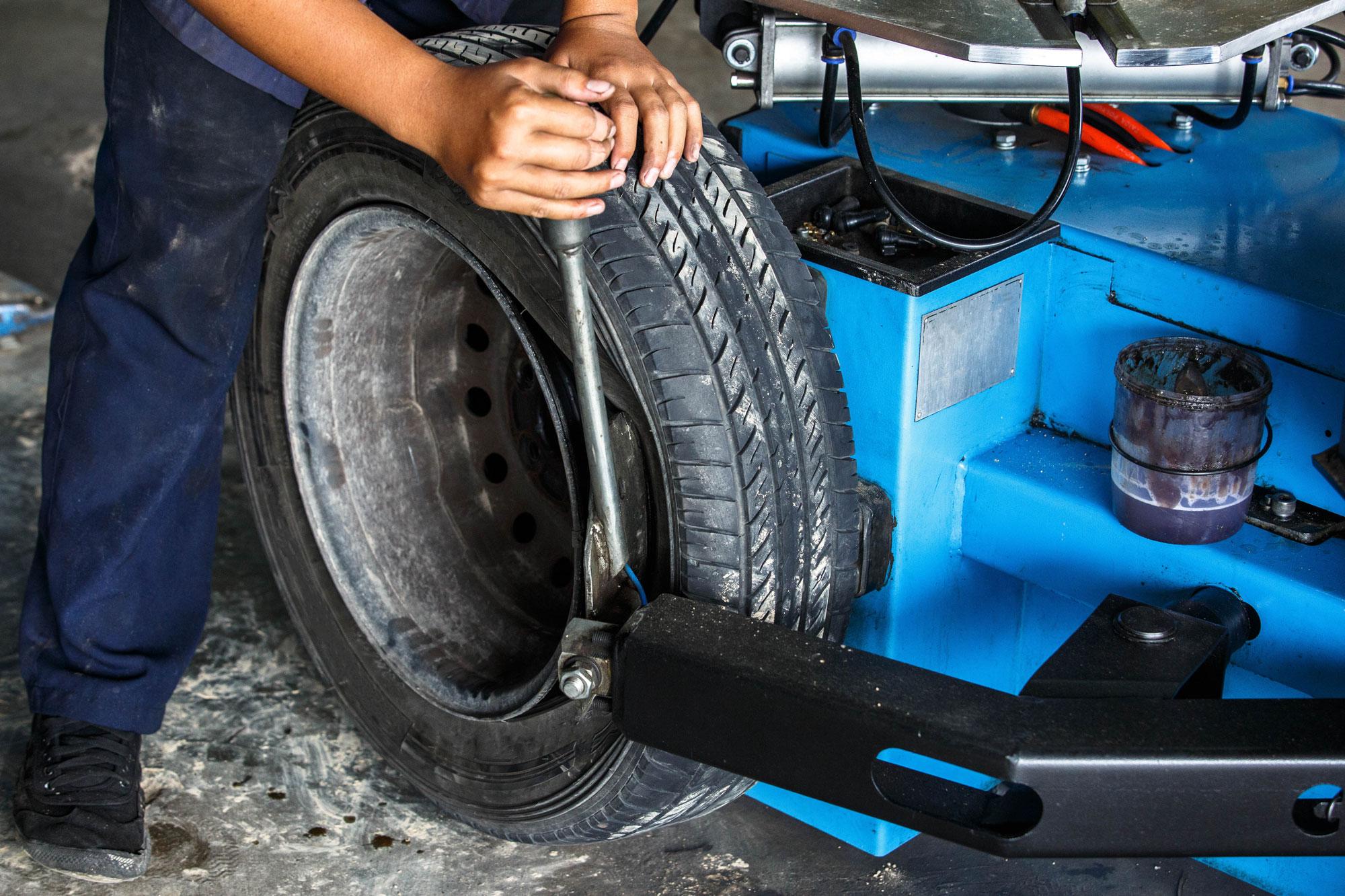 Tyre Fitting - AD Car Care Wimbledon
